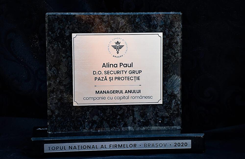 Camera de Comerț și Industrie Brașov a premiat excelența: Alina Paul – Premiul Managerul Anului