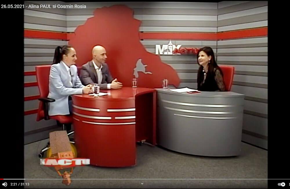 Alina Paul - CEO DO SECURITY și Cosmin Roșia - Președintele Camerei de Comerț și Industrie Brașov, invitați la Mix Actual Brașov